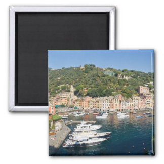 Portofino  panorama square magnet