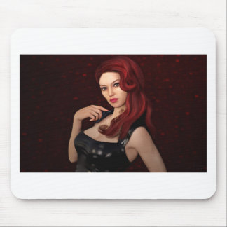 portrait-8-red mouse pad