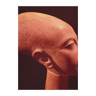 Portrait bust of a daughter of King Akhenaten Canvas Print