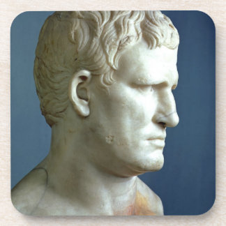 Portrait bust of Agrippa (63-12 BC) Roman (marble) Drink Coasters