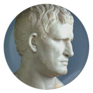 Portrait bust of Agrippa (63-12 BC) Roman (marble) Plates