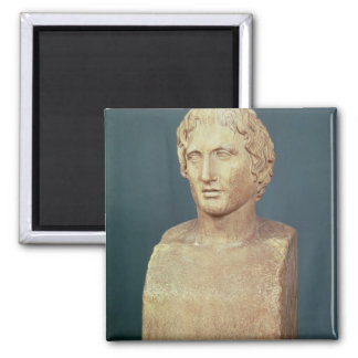 Portrait bust of Alexander the Great Square Magnet