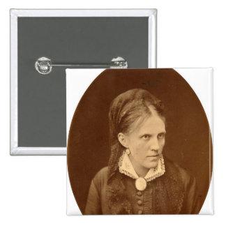 Portrait bust of Anna G. Dostyevskaya 15 Cm Square Badge