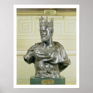 Portrait Bust of Cosimo I de Medici (1519-74) c.15 Poster