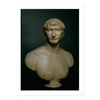 Portrait bust of emperor Trajan (53-117 AD) 1st-2n Postcard