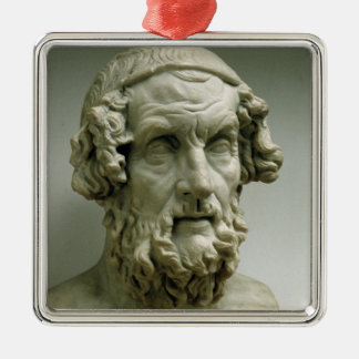 Portrait bust of Homer Christmas Ornament