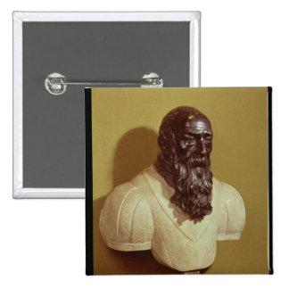 Portrait bust of Jean de Bologna  1608 15 Cm Square Badge