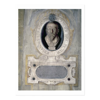 Portrait bust of Joannes Stradanus, Flemish-born p Postcard