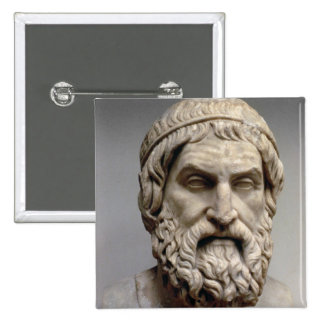 Portrait bust of Sophocles 15 Cm Square Badge