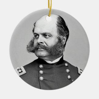 Portrait Civil War General Ambrose E. Burnside Round Ceramic Decoration