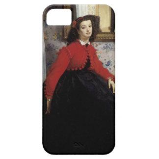 Portrait de Jeune Femme en Veste Rouge iPhone 5 Cases