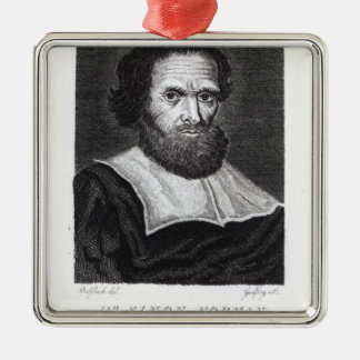 Portrait Dr Simon Forman  engraved by Godfrey Christmas Ornament