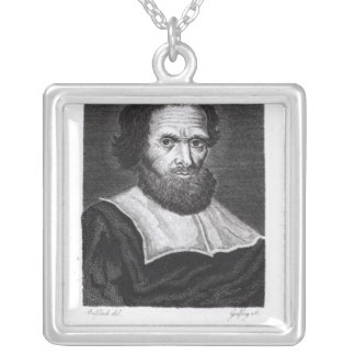 Portrait Dr Simon Forman  engraved by Godfrey Silver Plated Necklace