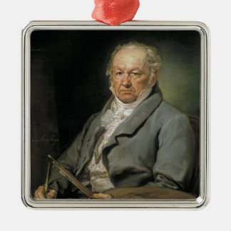 Portrait Francisco de Goya Vicente López Portaña Silver-Colored Square Decoration