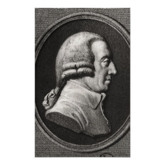 Portrait from a medallion of Adam Smith Poster