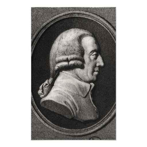 Portrait from a medallion of Adam Smith Print