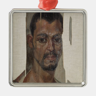 Portrait from Fayum (encaustic wax on wood) Christmas Ornament