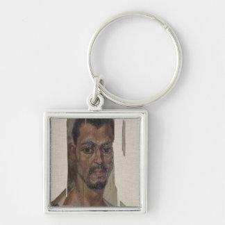 Portrait from Fayum (encaustic wax on wood) Keychain