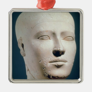 Portrait from the graves of the Giza Silver-Colored Square Decoration
