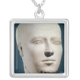 Portrait from the graves of the Giza Silver Plated Necklace