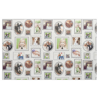 Portrait Gallery Frames with Personalized Photos Fabric