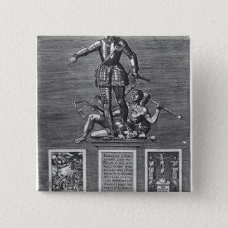 Portrait Glorifying Ferdinand Alvarez of Toledo 15 Cm Square Badge