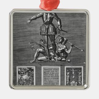 Portrait Glorifying Ferdinand Alvarez of Toledo Christmas Ornament