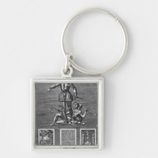 Portrait Glorifying Ferdinand Alvarez of Toledo Key Ring
