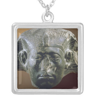 Portrait head of Sesostris III  from a sphinx Square Pendant Necklace