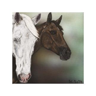 Portrait horse canvas print