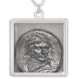 Portrait medallion of General Bonaparte  c.1830 Square Pendant Necklace