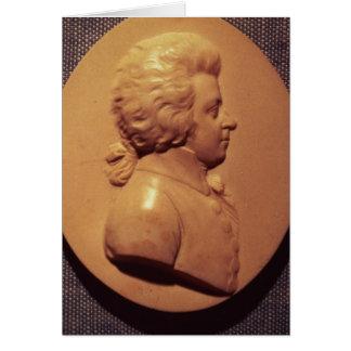 Portrait medallion of Wolfgang Amadeus Mozart Greeting Card