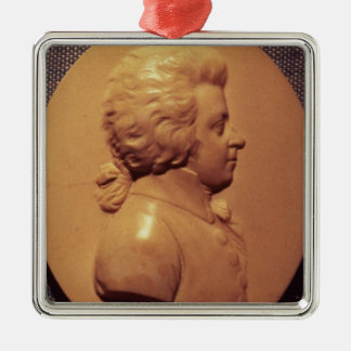 Portrait medallion of Wolfgang Amadeus Mozart Christmas Ornament
