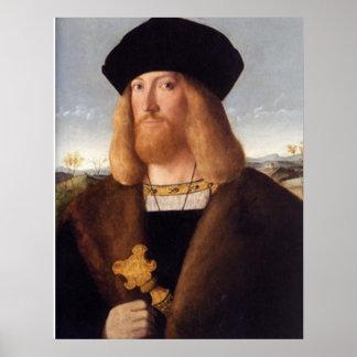 Portrait of a Bearded Gentleman Posters