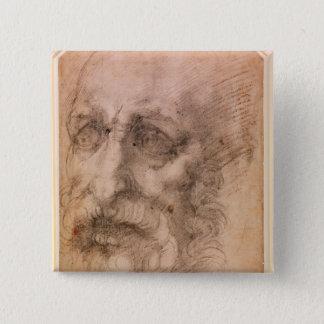 Portrait of a Bearded Man 15 Cm Square Badge