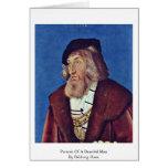 Portrait Of A Bearded Man By Baldung Hans Card
