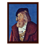 Portrait Of A Bearded Man By Baldung Hans Post Card