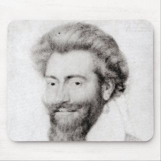 Portrait of a Bearded Man Mouse Pads