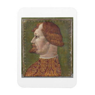 Portrait of a Bearded Nobleman possibly Gian Gale Rectangle Magnet