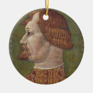 Portrait of a Bearded Nobleman, possibly Gian Gale Round Ceramic Decoration