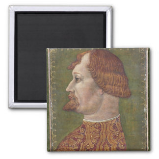 Portrait of a Bearded Nobleman, possibly Gian Gale Square Magnet