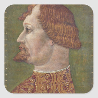 Portrait of a Bearded Nobleman, possibly Gian Gale Square Sticker