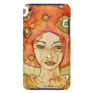 Portrait of a beautiful girl barely there iPod cases