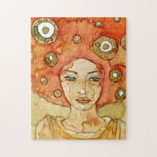 Portrait of a beautiful girl jigsaw puzzle