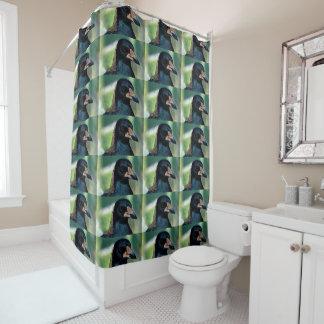 Portrait of a bird shower curtain