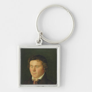 Portrait of a Blind Boy Silver-Colored Square Key Ring