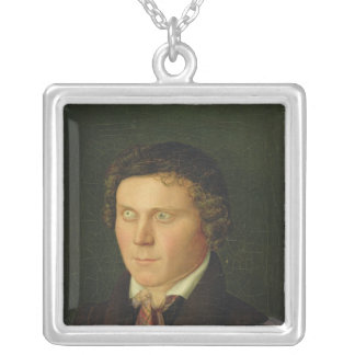 Portrait of a Blind Boy Silver Plated Necklace