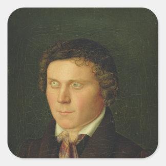 Portrait of a Blind Boy Square Sticker