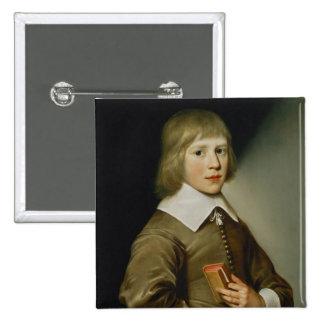Portrait of a Boy 15 Cm Square Badge