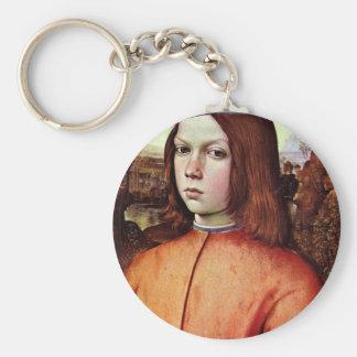 Portrait Of A Boy By Pinturicchio (Best Quality) Basic Round Button Key Ring